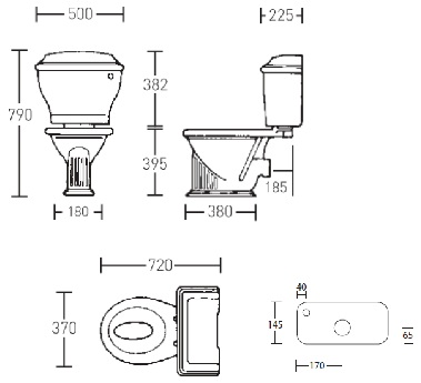 Унитаз компакт Windsor от Imperial Bathrooms (WI1WC01030F + ZWICC01000C)