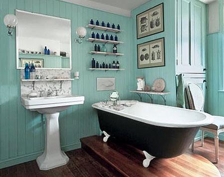 ванна кімната в англійському стилі, ванная комната в английском стиле