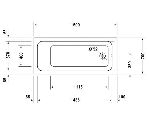 Ванна 160х70 Duravit D-Code 700096