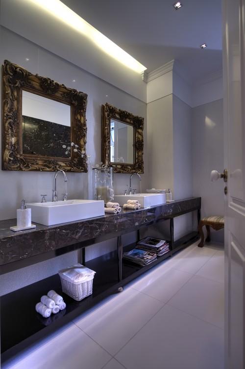 еклектична ванна кімната, эклектичная ванная комната