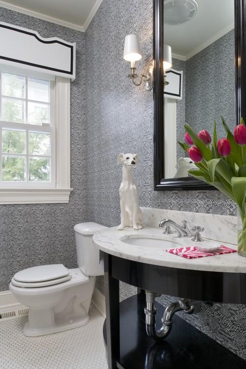 Елегантна ванна кімната в американському традиційному стилі, элегантная ванная комната в традиционном американском стиле