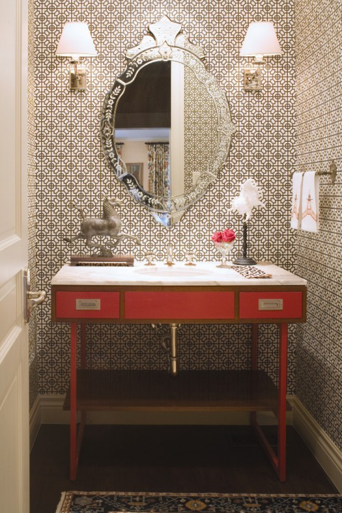 Ванная комната с восточными аксессуарами, ванна кімната з аксесуарами зі сходу