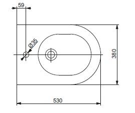 Біде консольне ТОТО NC/R Series BW762Y
