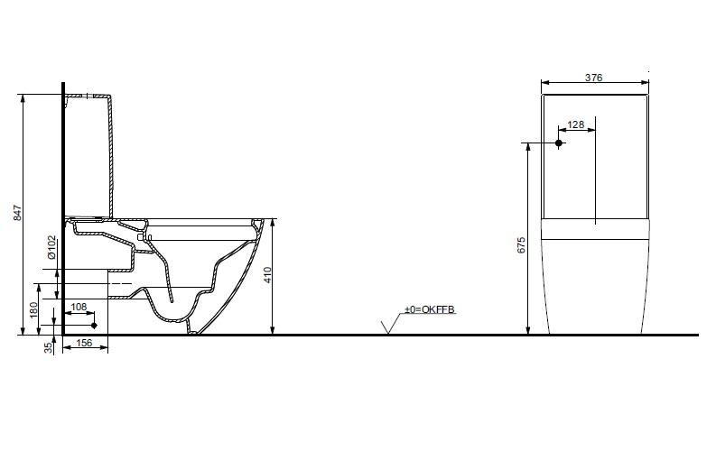 Бачок керамічний ТОТО NC/S Series SW761Y