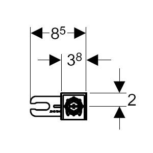 Комплект кріплення до стіни Geberit Duofix 111.815.00.1