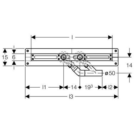 Дренажний канал 70 см Geberit Uniflex 154.100.00.1