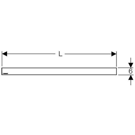 Кришка дренажного каналу 70 см Geberitb Uniflex 154.350.00.1