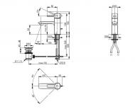 Смеситель для умывальника ТОТО NC Series VLB31