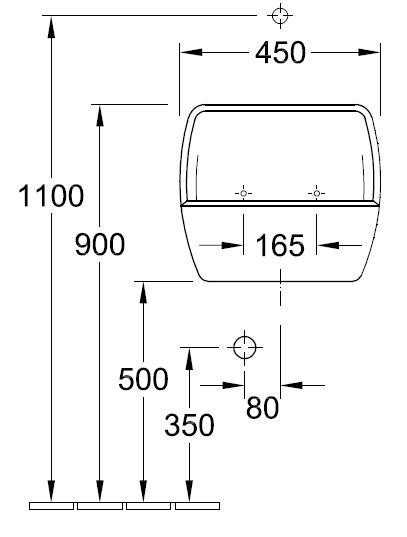 Умивальник для прання Villeroy&Boch O.novo 6912 00 XX