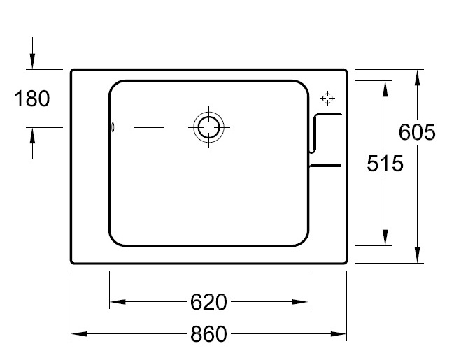 Умивальник для прання Villeroy&Boch O.novo 6922 10 XX