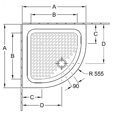 Душовий піддон 80х80 Villeroy&Boch O.novo 6030 A8 XX