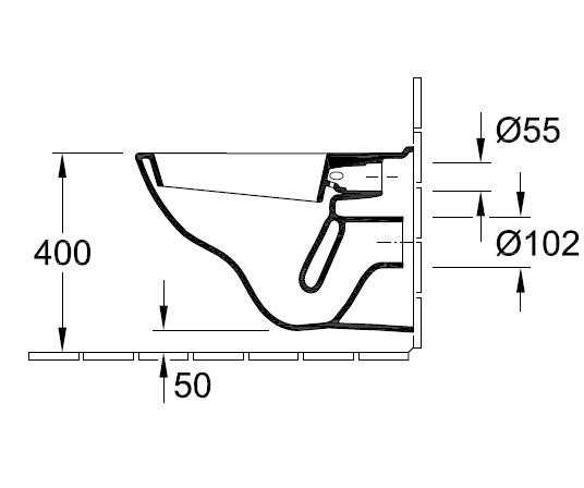 Унітаз консольний Villeroy&Boch O.novo 5660 10 XX