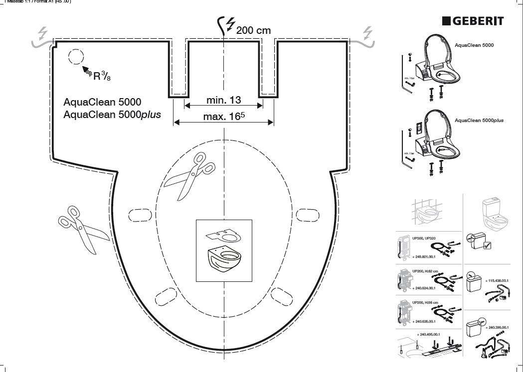 Багатофункціональне сидіння з кришкою для унітазу Geberit Aquaclean 5000 (146.120.11.1)