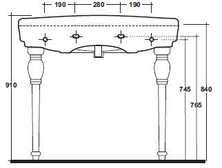 Ніжки керамічні Olympia Impero СС.11