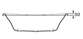 Ванна Roca Newcast Gray 170х85