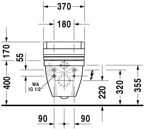 Консольний унітаз-біде Duravit Starck 3 222659+610000