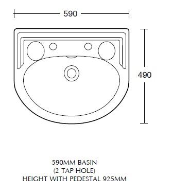 Рукомийник Sanitan Nouveau 60х50