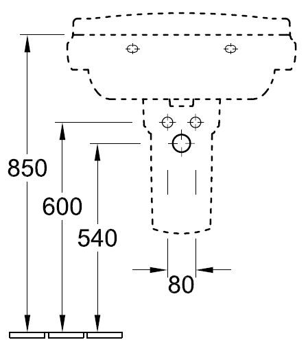 Рукомийник Villeroy&Boch Hommage 7101 75 R1