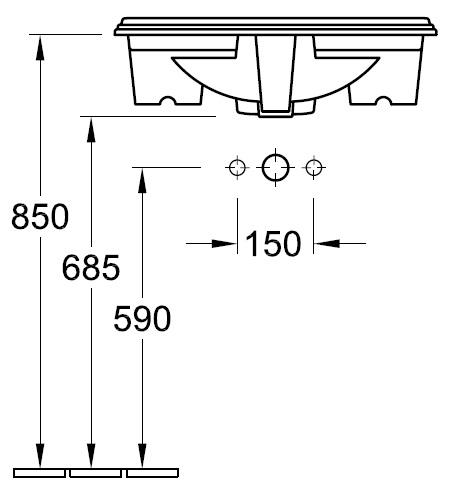 Рукомийник Villeroy&Boch Hommage 7102 63 R1
