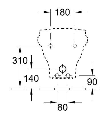 Біде консольне Villeroy&Boch Hommage 7441 B0 R1
