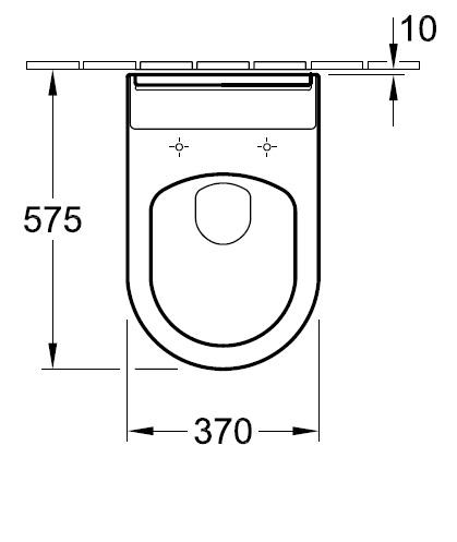 Унітаз підлоговий Villeroy&Boch Hommage 6663 10 R1