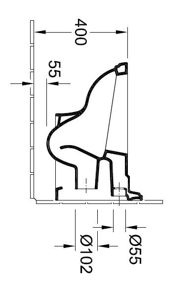 Унітаз консольний Villeroy&Boch Hommage 6661 B0 R1