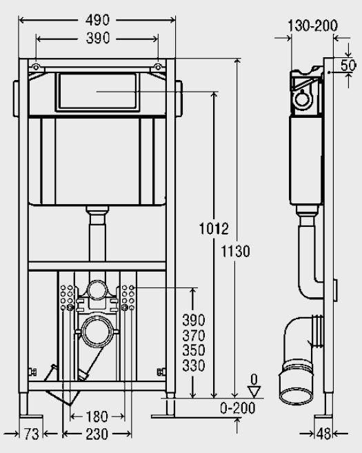 Інсталяція для консольного унітазу 4 в 1 Viega Eco Plus 660321