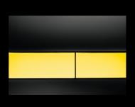 Панель подвійного зливу TECEsquare, скло, чорна 9.240.808