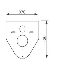 Прокладка звукоізолююча для підвісного унітазу і біде TECEprofil 9.200.010