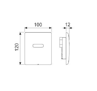 TECEplanus Urinal 6 V-Batterie панель змиву з інфрачервоним датчиком, латунь, хром глянц. 9.242.351