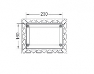 Монтажна рамка для установки скляних панелей TECEsquare на рівні стіни, чорний 9.240.647