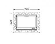 Монтажна рамка для установки скляних панелей TECEsquare на рівні стіни, білий 9.240.646