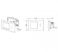 TECEplanus 6 V-Batterie панель змиву з інфрачервоним датчиком, біла глянц. 9.240.361