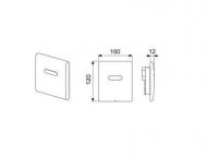 TECEplanus 230/12 B Urinal панель змиву з інфрачервоним датчиком, білий матовий 9.242.355