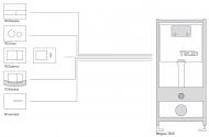 Лицьова панель TECEloop modular, скло, слонова кістка(Alape) 9.240.680
