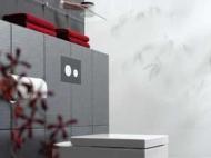 Лицьова панель TECEloop modular, скло, рубіновий 9.240.679