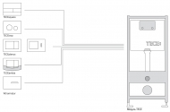 Лицьова панель TECEloop modular, скло, помаранчевий 9.240.673