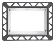 Лицьова панель TECEloop modular, скло, срібний 9.240.676