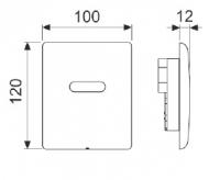 TECEplanus Urinal 6 V-Batterie панель змиву з інфрачервоним датчиком, нержавіюча сталь. Сатин 9.242.350