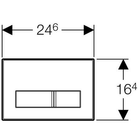 Клавіші змиву Geberit Sigma50 металева з антивандальним кріпленням (115.785.GH.1)