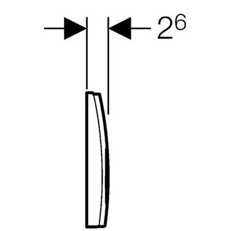 Клавіші змиву Geberit Delta21 (115.125.11.1)
