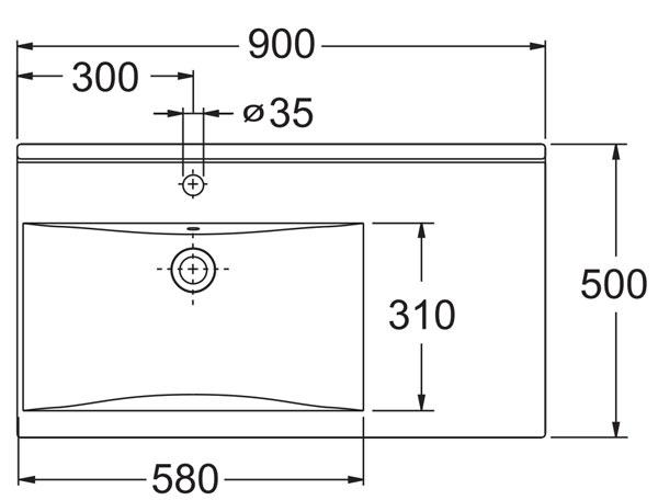 Умивальник Ido Wave 9204101001 (чаша зліва)