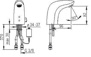 Змішувач для умивальника Oras Electra 6150F
