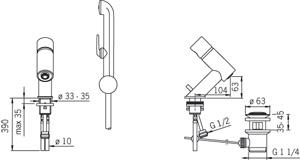 Змішувач для умивальника Oras IL BAGNO ALESSI One 8502
