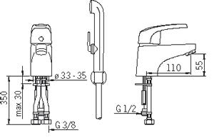 Змішувач для умивальника Oras Safira 1012F