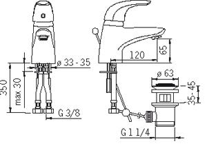 Змішувач для умивальника Oras Vienda 1704F