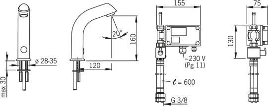 Змішувач для умивальника Oras Electra 6104