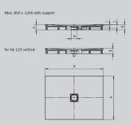 Душовий піддон Kaldewei CONOFLAT (853) 75х90