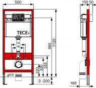 Комплект інсталяції для унітаза Tecebase (модуль+кріплення+панель змиву Tecebase) 9.400.000