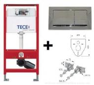 Комплект 3 в 1 інсталяції для унітазу Tecebase (інсталяція + кріплення + панель змиву Tecebase) 9.400.006